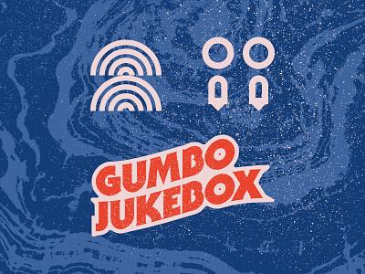 Gumbo Jukebox design typography lettering branding logo vector