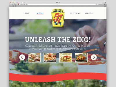 Heinz Concept pitch clean minimal ui parallax heinz food