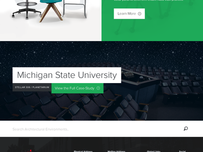 Section Landing Page Concept concept furniture icons case study landing flat clean