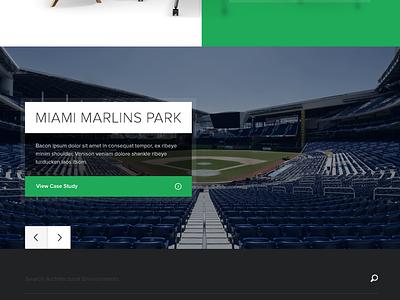 Section Landing Pag - Concept 2 furniture icons concept landing marlins miami marlins ballpark stadium