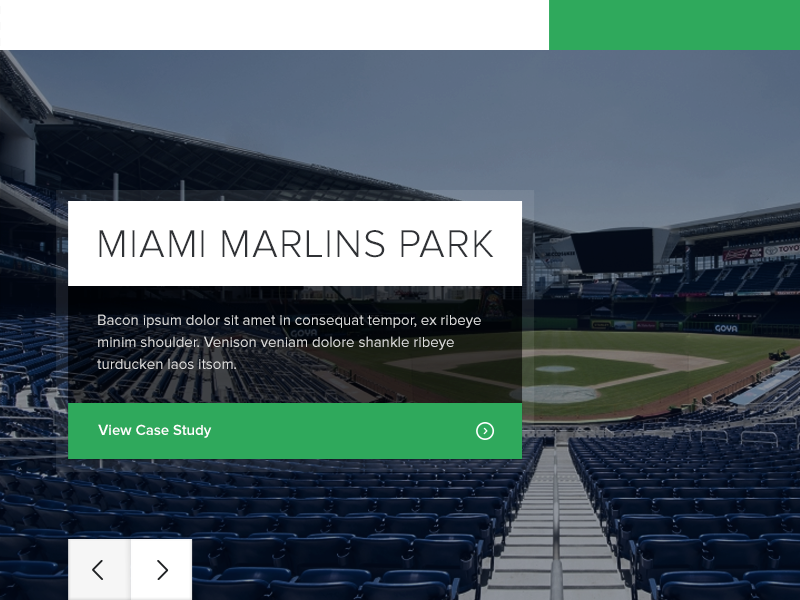Section Landing Pag - Concept 2 furniture icons concept landing marlins miami marlins ballpark stadium