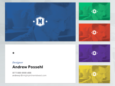 Mighty Business Cards business cards cards andrew possehl overlay identity print mighty color