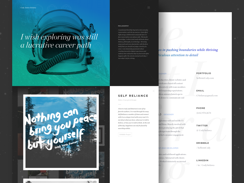 How I got a job at google / Medium Article / Personal Branding agency google self promotion marketing symbolism typography space personal portfolio branding identity