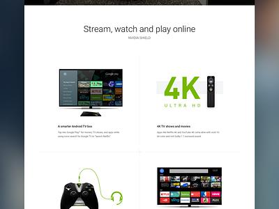 Google Fiber + NVIDIA Shield product design google design games cloud witcher 3 video games gaming nvidia nvidia shield marketing google fiber google