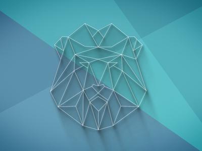 Unused Lion Concept long-shadow shadow icon logo logo-design illustration wireframe polygon poly lion