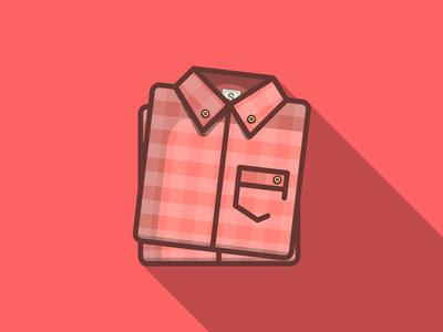 Shirts plaid logo-design minimal flat small long-shadow wip logo icon flat-design shirt simple