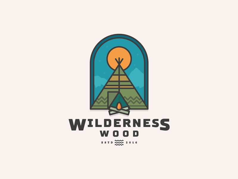 Dribble Wilderness Wood Logo by Warren Hoare - Dribbble