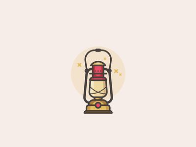 camping lantern icon lantern lamp mark symbol logo-type outdoors flat-design icon camping minimal woods logo-design