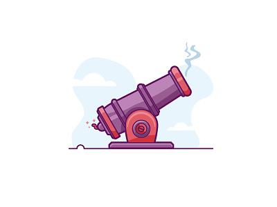 Data Sent retro flat-design transfer fuse illustration minimal data match gun sending fire cannon