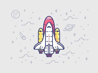 Rocketman vector flat spaceship minimal symbol stars space illustration icon flat-design character rocketship rocket