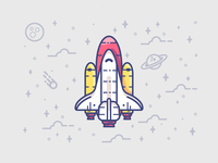 Rocketman vector flat spaceship minimal symbol stars space illustration icon flat-design character rocketship rocket