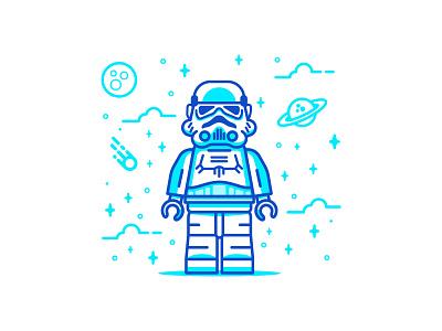 stormtroopper vector star wars stormtrooper starwars space retro character illustration flat flat-design icon minimal