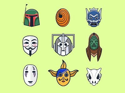 Character Icon Design minimal icon set flat vector flatdesign illustration design