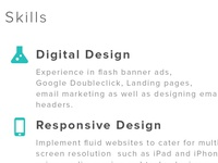 Skills section for my Portfolio site