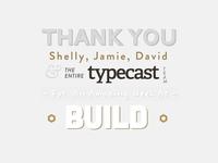 Thanks Typecast!