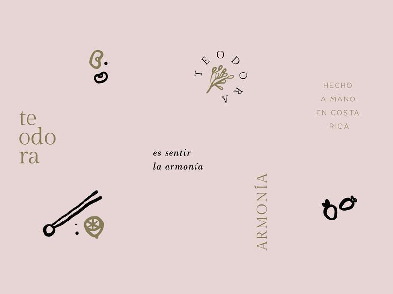 Submarks and iconography - Teodora organic food nature home goods tagline illustration logo submark iconograpy