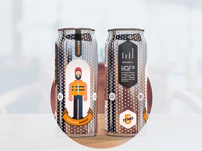 Beer Kombucha can designs branding design packaging