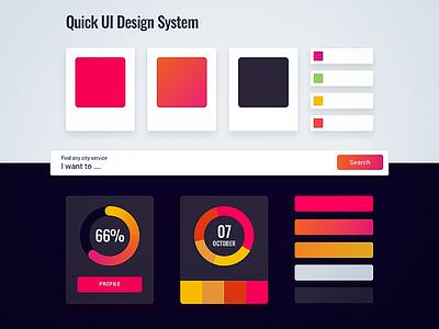 Quick UI Design System dashboard ui design system