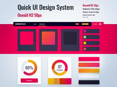 Quick UI Design System 2 interface design visual design ui design design system