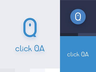 ClickQA Multiplatform Brand logo multiplatform brand design
