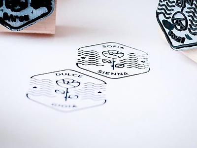 Personal Brand Rubber Brand love illustration rubber stamp personal brand identity