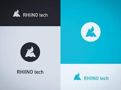 Rhiino tech logo brand logo ux design branding