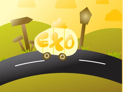 exo vector illustration animation