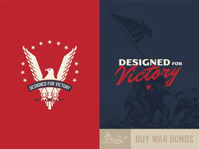 Designed for Victory museum history vintage font vintage logo world war 2 world war ii victory ww2 wwii vintage badge logo