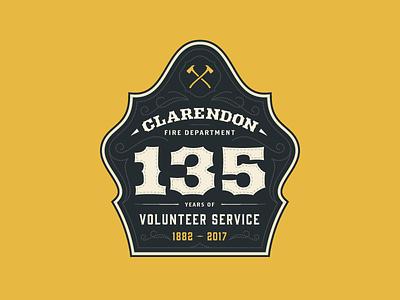 CFD 135 pennsylvania clarendon volunteer firefighter fire department logo