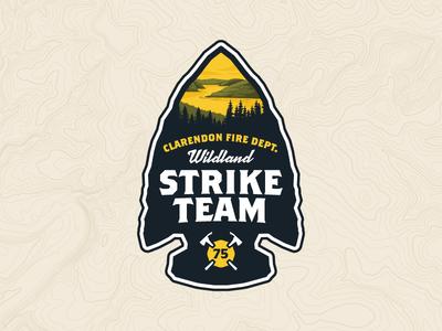 Strike Team pa pennsylvania arrowhead arrow forrest wildfire patch fire department
