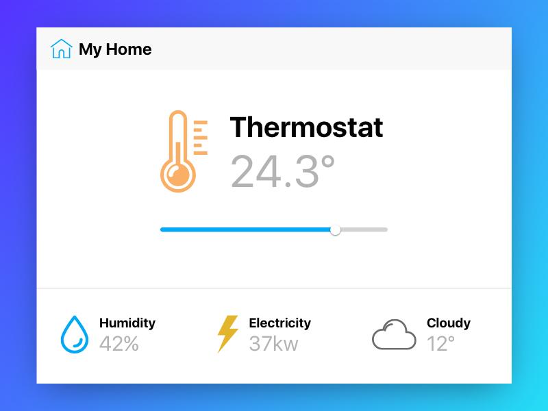 Home Monitoring ui thermostat temperature monitoring