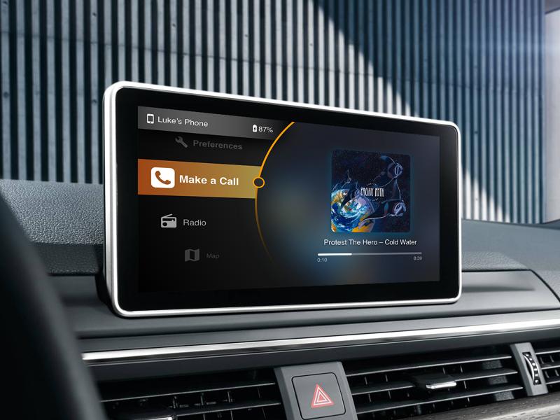 Car UI music player physical interfaces ui car