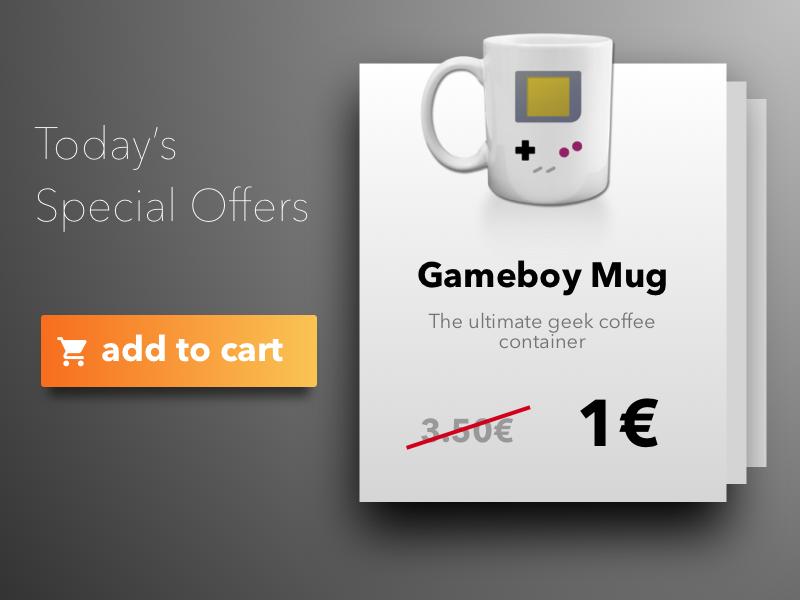 Special Offer orange gray e-commerce special offer 100 dailyui
