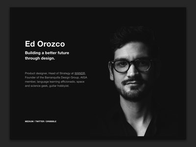 Personal website update. .com profile black dark mode web design personal brand