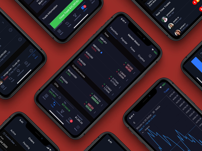 NAGA Trader - App Design animation investing stocks trading app clean ux ui