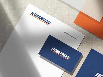 Branding - Hoberman hardware tools identity branding logo