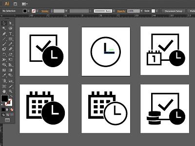 Icons - Project Management icons project management mono minimal time calendar ui