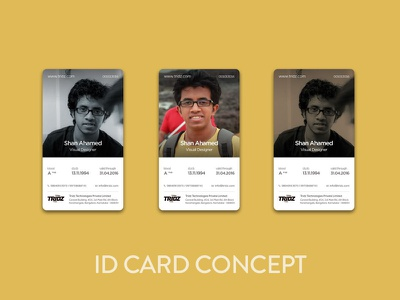 Staff Identification Card Design photo identity id card concept print card id