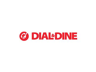 Dial & Dine red restaurant logo logo identity