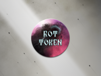 Rot Token Back - Board Game Piece