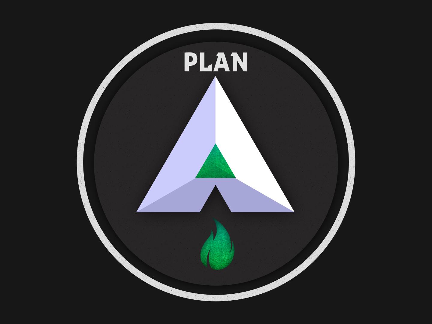 Plan A - [Esmeralda] emerald esmeralda plan logo fuego fire letra letter a