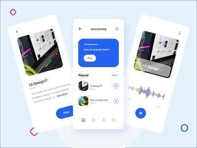 Podcast Ui ui  ux uixdesign uixu uiux ui design uix icon minimal app design ux ui