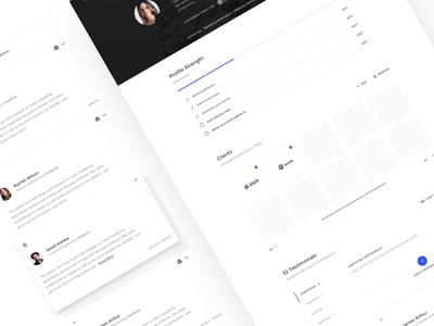 Sales Profile minimal clients testimonials profile product design sales