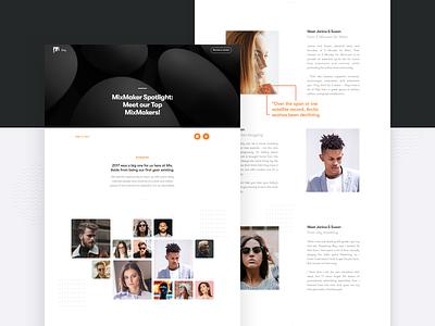 Mix Community marketing post article community ui web magazine layout visual graphic design blog