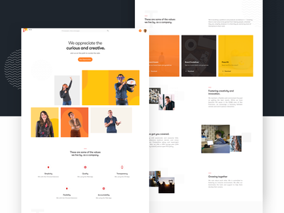 About us ui8 sketch sketchapp materialup materialinspired about mission landing page design interface ui web careers about us