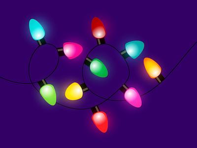 Holiday Lights beautiful purple bright decor light glow vector festive festivelights colorful lights graphic design illustration