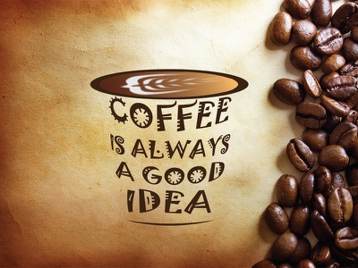 Coffee Typography textillustration typography coffee design vector graphic design illustration