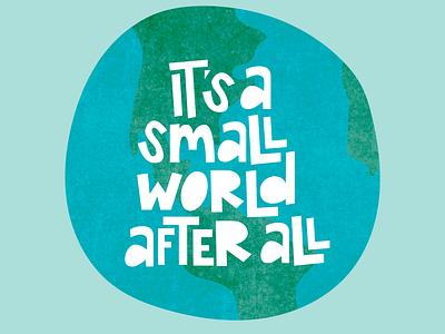 Small World lettering illustration