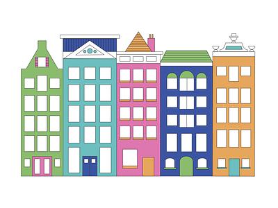 Row Houses illustration