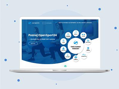 Opensport24 - web design landing page design landing design ux ui web design webdesign website web